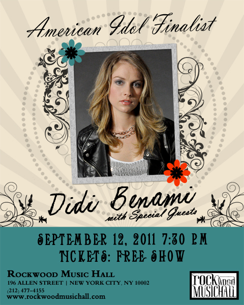 Didi Benami Live in NYC